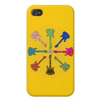 POP GUITARS CIRCLE COVER FOR iPhone 4