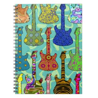 POP GUITARS SPIRAL NOTEBOOKS