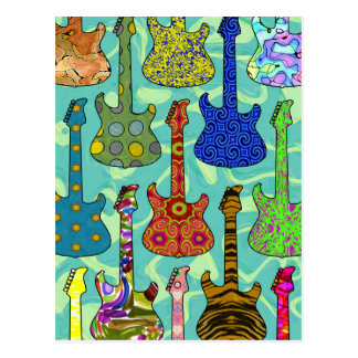 POP GUITARS POSTCARDS