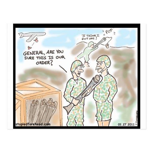 Pop Gun General Postcard