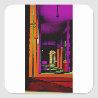 Pop Hallway Square Sticker