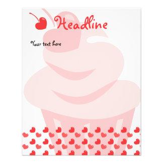 """Pop Heart Cupcake 4.5"""" X 5.6"""" Flyer"""