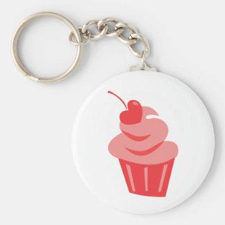 Pop Heart Cupcake Basic Round Button Keychain