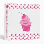 Pop Heart Cupcake Binder