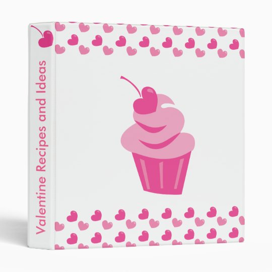 Pop Heart Cupcake Binder