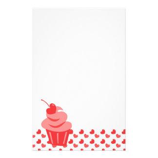 Pop Heart Cupcake Customized Stationery