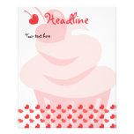 Pop Heart Cupcake Flyer Design