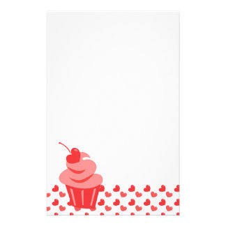 Pop Heart Cupcake Stationery