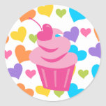 Pop Heart Cupcake Stickers