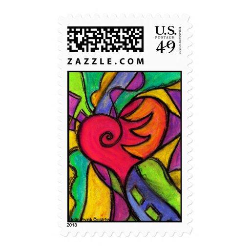 Pop Heart Stamps
