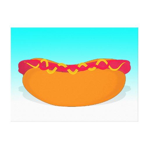Pop Hot Dog Canvas Print