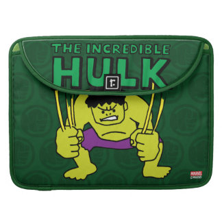 Pop Hulk with Logo Sleeve For MacBooks