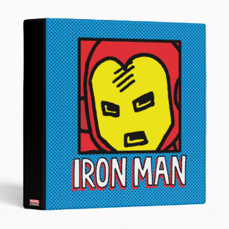 Pop Iron Man Character Block with Logo Binder