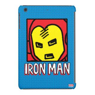 Pop Iron Man Character Block with Logo iPad Mini Cover
