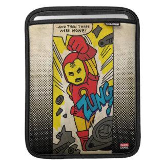 Pop Iron Man Comic Strip iPad Sleeve