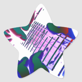 Pop kind Guitar Tapping Star Sticker