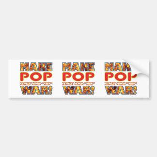 Pop Make X Bumper Sticker