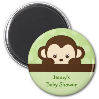 Pop Mod Monkey Personalized Party Favor Magnets
