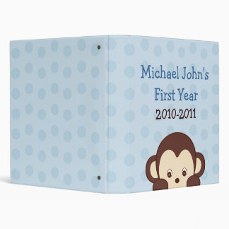 Pop Monkey Dots Baby Photo Album Scrapbook 3 Ring Binder