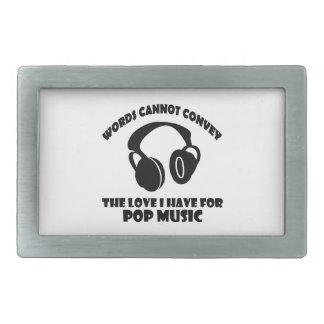 Pop Music designs Rectangular Belt Buckle