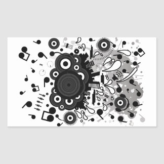 POP_MUSIC RECTANGULAR STICKER