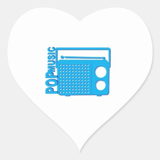 Pop Music Heart Stickers