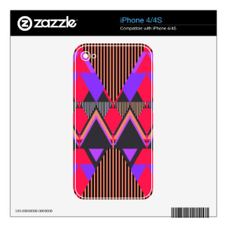 Pop Neon Tribal 6 iPhone 4/4S Skin Skins For The iPhone 4S