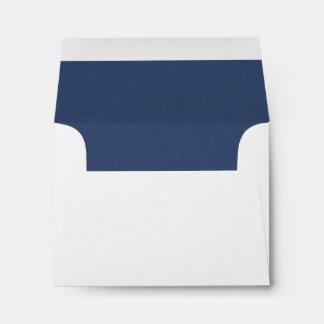 Pop of Color NAVY BLUE Wedding RSVP V24 Envelope