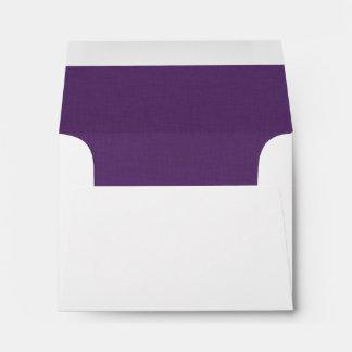 Pop of Color PURPLE Wedding RSVP V36 Envelope