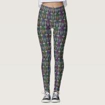 Pop Owl Mirror Pattern Leggings