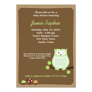 "Pop Owl Nature 5x7 Baby Shower Invitation 5"" X 7"" Invitation Card"