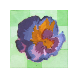 Pop Pansy Gallery Wrap Canvas