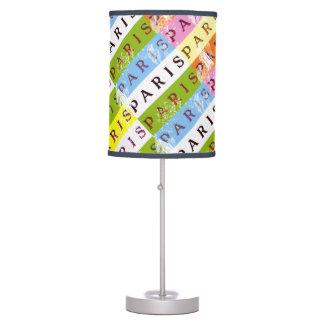 Pop Paris Signs Diagonal Table Lamp