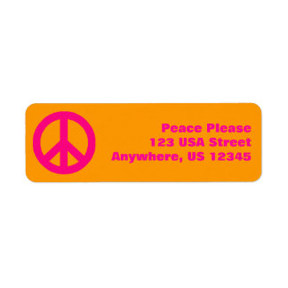 Pop Peace Sign Label