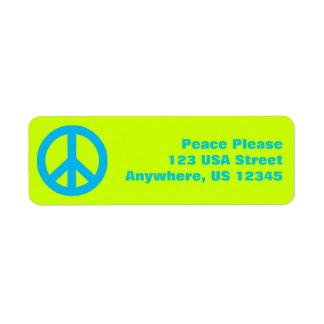 Pop Peace Sign Label