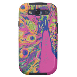 Pop Peacock Galaxy S3 Covers