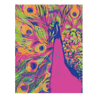 Pop Peacock Postcards