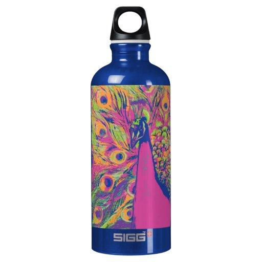 Pop Peacock Water Bottle