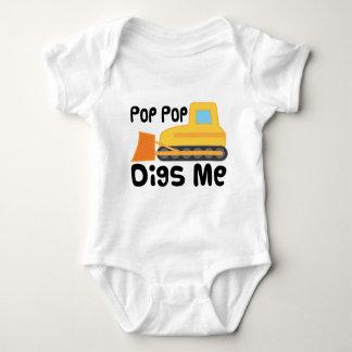 Pop Pop Digs Me Baby Bodysuit