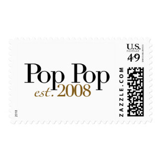 Pop Pop Est 2008 Stamp