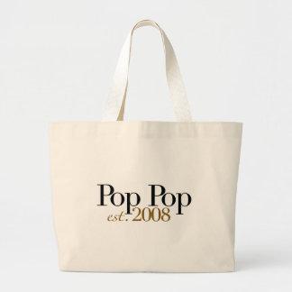 Pop Pop Est 2009 Canvas Bags