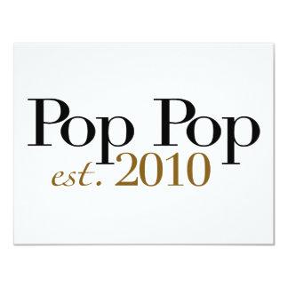 Pop Pop Est 2010 Card