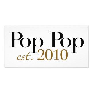 Pop Pop Est 2010 Photo Card Template