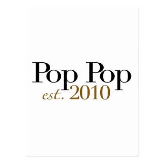 Pop Pop Est 2010 Post Card