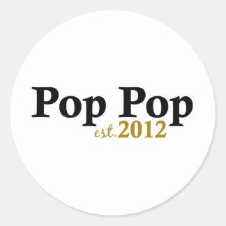 Pop Pop est 2012 Classic Round Sticker