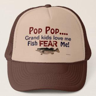 Pop Pop...Grand Kids Love Me Fish Fear Me Hat
