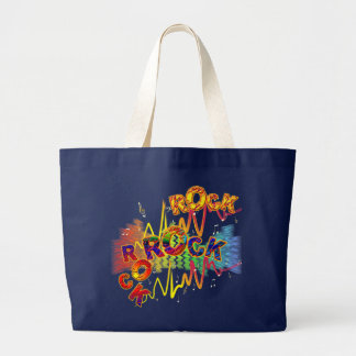 Pop Pop ROCK Tote Bags