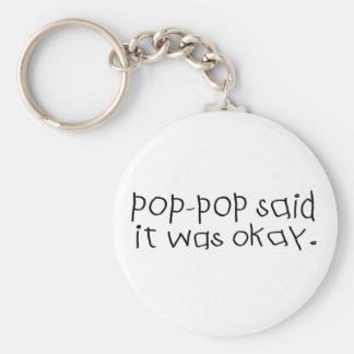 Pop Pop Said it was Okay Keychain