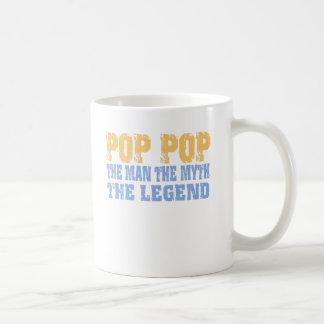 Pop Pop (Yellow Blue) Coffee Mug