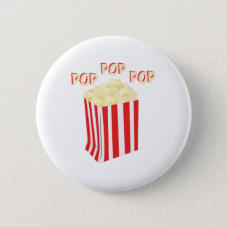 Pop Popcorn Pinback Button